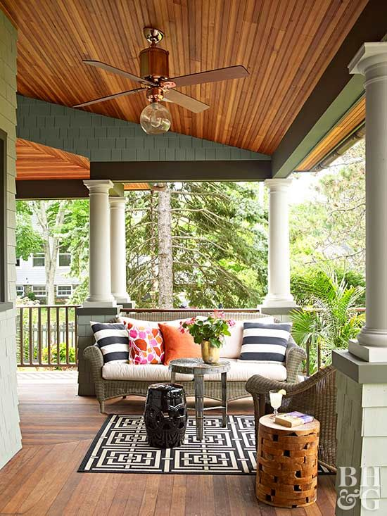 These remedies will help remove stains on wooden decks or porches.