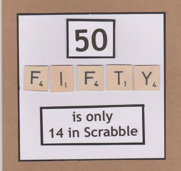 Lidy's Place: 50 jaar kaart man en vrouw - 50th birthday card man and woman scrabble tiles