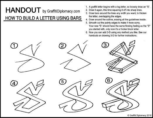 Bending Bars - Graffiti letters - Free Drawing lessons