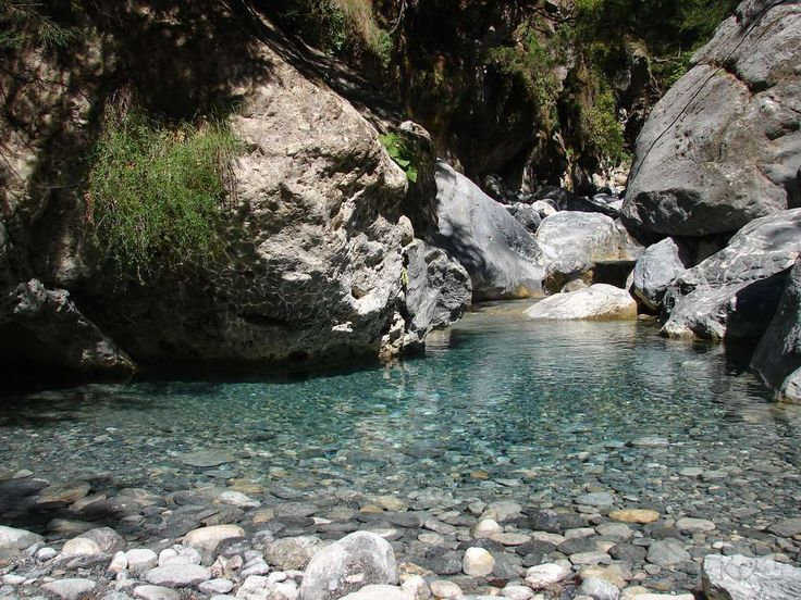 I wa nt to hike the Samaria Gorgein Crete Greece... it is beautiful.  this is just one of the beautful water oasis along the hike!
