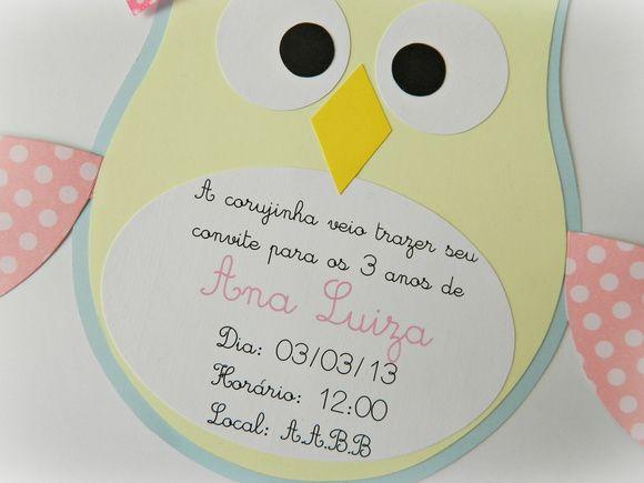 Convite Corujinha Lacinho