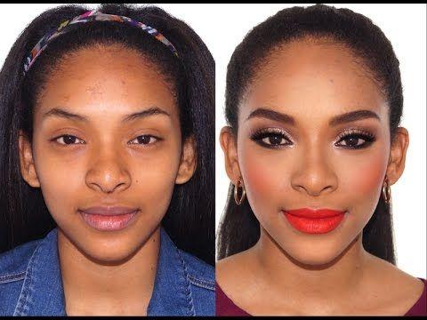 Maquillaje para Fiestas Navideñas | Maquillaje para Piel OSCURA, MORENA, NEGRA | Colab | Mary Pulido - YouTube