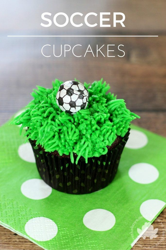 Easy Soccer Cupcakes Mom Vs The Boys Soccer Birthday Cakes Soccer Cupcakes Soccer Cake