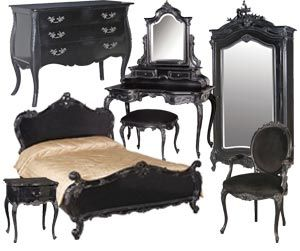 I need this bedroom set Stat!  But in a french provencial white color