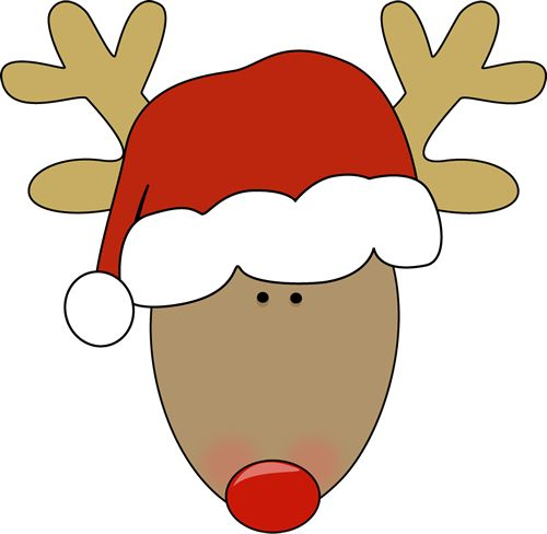 Reindeer Santa Hat Coloring Pages For Kids Christmas