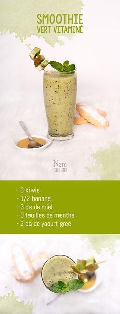 Mes 5 smoothies colorés - vert - Nemgraphisme.com