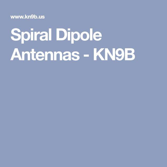 Spiral Dipole Antennas - KN9B