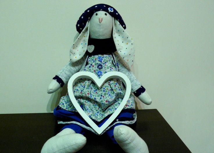 #handmade #tilda #bunny #girl #hearts
