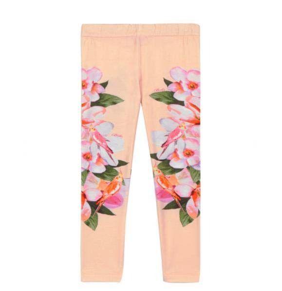 Ted Baker Baby Girls Leggings Pink Floral Designer 18-24 Months