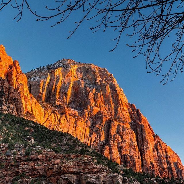 Photo @materas // Late autumn Sunset on Bridge Mountain in Zion National Park U... | http://ift.tt/2b7Z089 shares #travel #destination for #rich #vacation and #holiday. #Get #hotels #Deals at http://ift.tt/2b7Z089