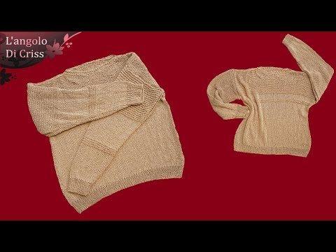 """Tutorial maglione estivo da uomo ai ferri """"Sand Sweater"""" - maglia ai ferri facile passo a passo - YouTube"""