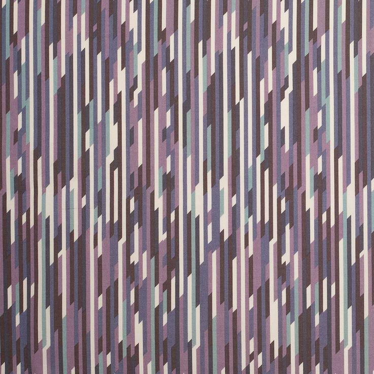 Liberty Of London Mike Purple/Blue Stretch Cotton Poplin Fabric by the Yard   Mood Fabrics
