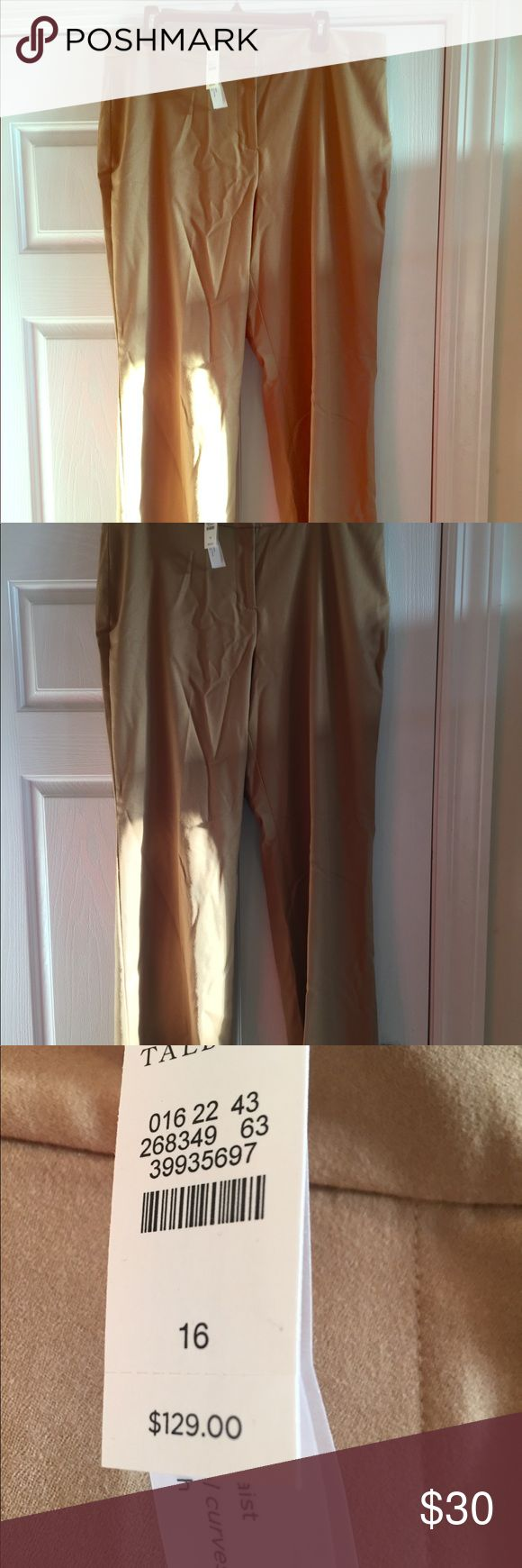"""Talbots Pants New with tags, Talbots pants size 16 curvy. 42""""length, 19"""" waist. These are made for a tall woman or a lady that loves to rock some high heels. Bundle your likes for an amazing offer. Talbots Pants Trousers"""