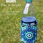 Outdoor drink holder. Love this but I would try using bamboo to make it tropical!