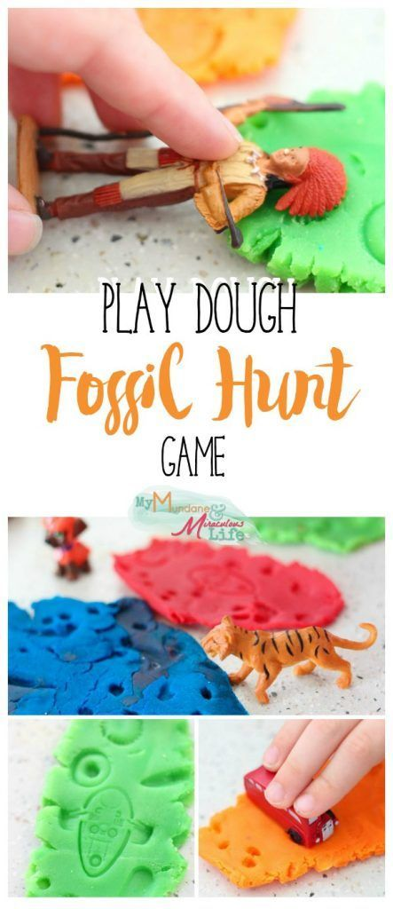 Looking for a no prep play dough activity? This one is awesome! Play Dough Fossil Hunt Game.