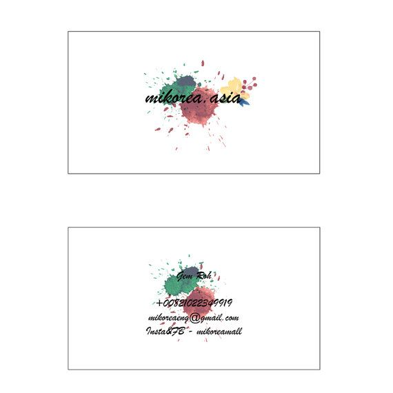 Set Of 200 Business Name Card Unique And Modern By MIKOREA