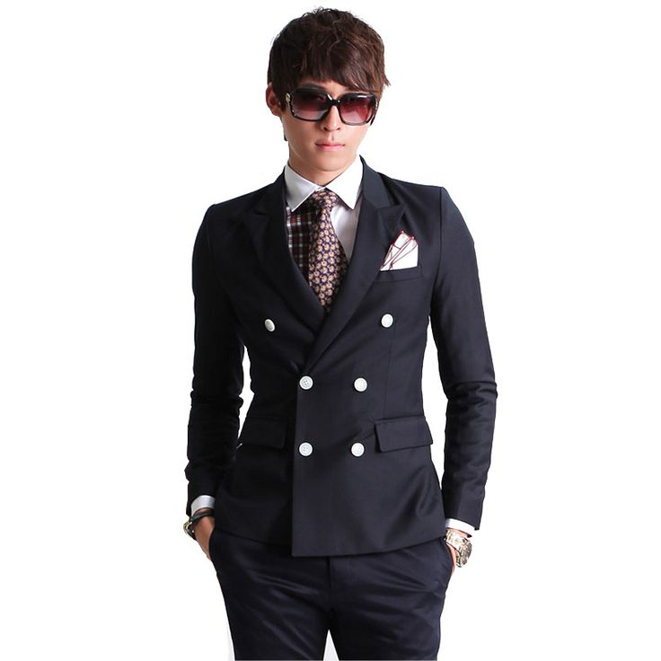 2016 new fashion brand men blazer double-breasted suit set casual high-quality slim fit groom wedding dress   worth buying on AliExpress