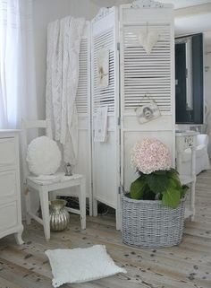 shabby chic louvred shutters - Google Search