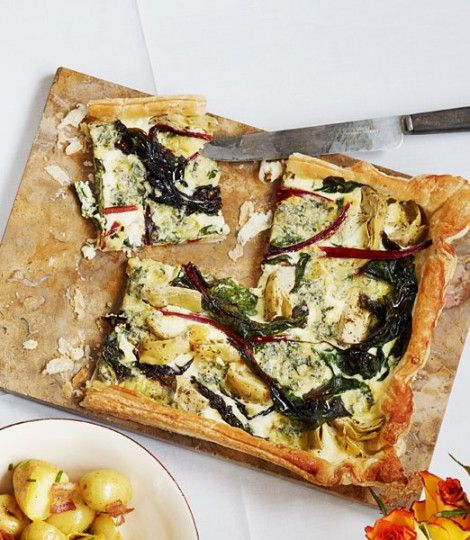 This asparagus quiche recipe is given an extra touch of flair through ...