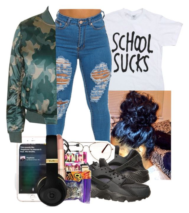"""Untitled #33"" by ayoo-tj ❤ liked on Polyvore featuring NIKE and Topshop"