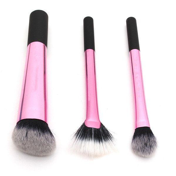 Professional Pink Makeup Brushes Set Eye Shadow Powder Face Brush