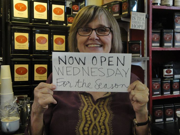 Guess what? We will be open at the market Wednesdays AND Saturdays starting this week! Come by for a cuppa tea!