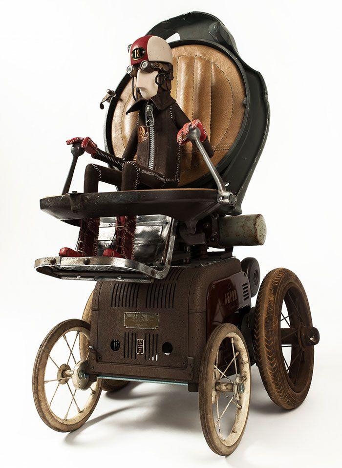 steampunk sculptures by stephane halleux faith is