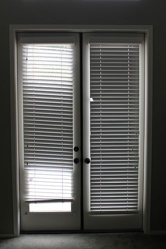 The White Wooden Blinds Were Battered And Broken, Especially On The Left  Door. Every · White Wooden BlindsInterior French DoorsWindow ...