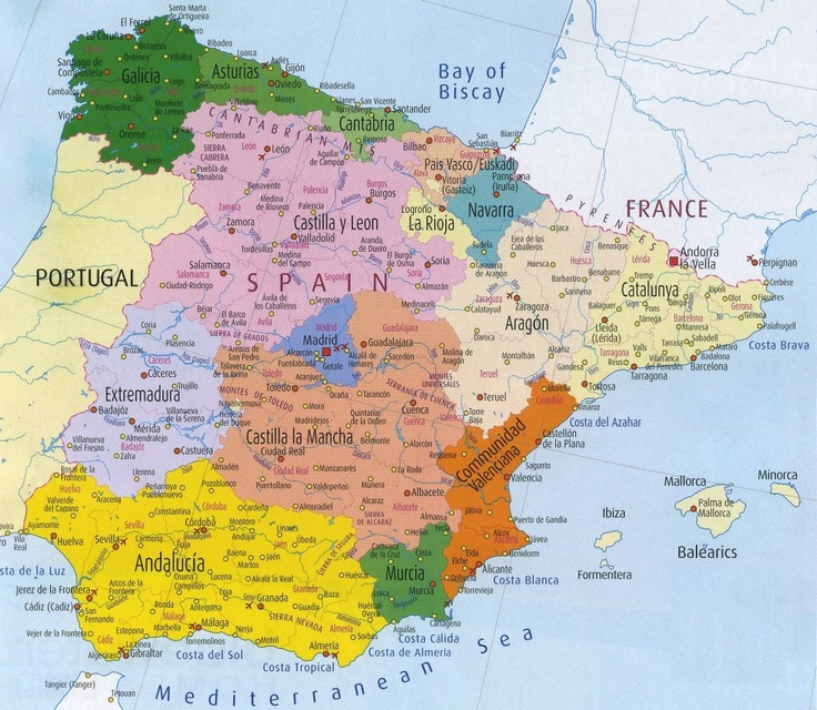 spains provinces and municipalities