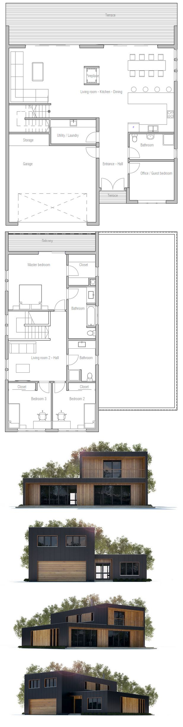 Floor Plan CH294 from ConceptHome.com
