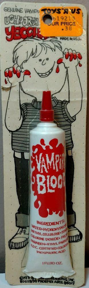 Imagineering Vampire Blood 1971 Original Vintage Halloween Makeup Costume NOS in Toys & Hobbies, Robots, Monsters & Space Toys, Monsters | eBay