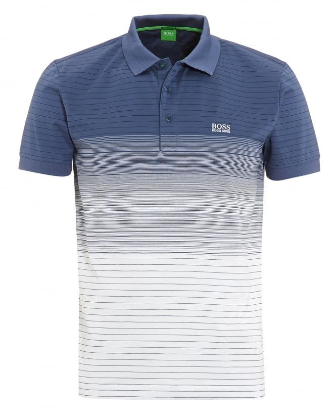 216f9caf7 Mens Paddy 3 Blue White Faded Stripe Polo Shirt | Clothes | Striped ...