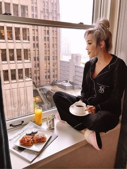 Cody and I stayed at The Fairmont Olympic Hotel when we were in Seattle, and we loved it! Any time we stay at a hotel, we order room service for breakfast at LEAST once, and I always get my coffee and croissants fix ☕️ I've also never really been a pajama person, more so just a t-shirt & shorts, but I couldn't pass up these super cute VS pajamas during Black Friday!  @liketoknow.it http://liketk.it/2pTpX #liketkit
