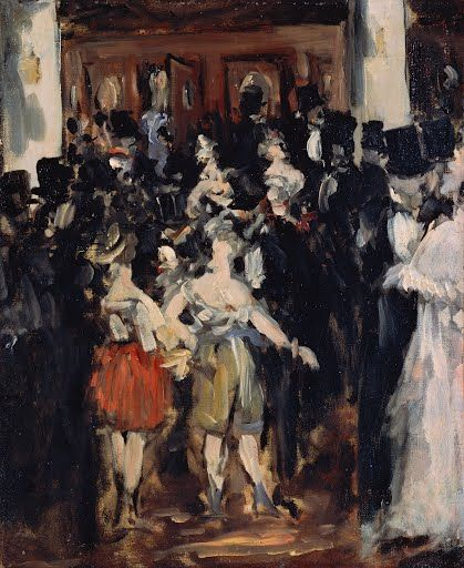 Edouard Manet produced several paintings of masked balls, as well as  studies for them. The most polished and complete of these, in the National  Gallery in ...