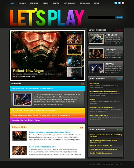 top 7 ideas about movies games music portal web design templates on pinterest game portal. Black Bedroom Furniture Sets. Home Design Ideas