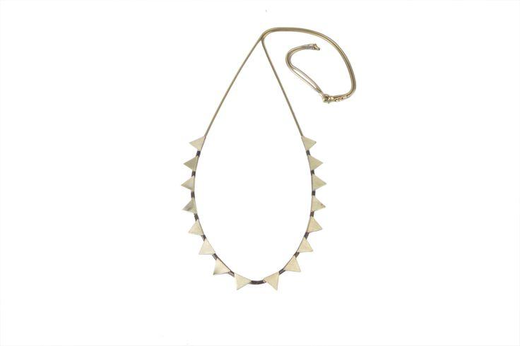 Triangulos Largo necklace