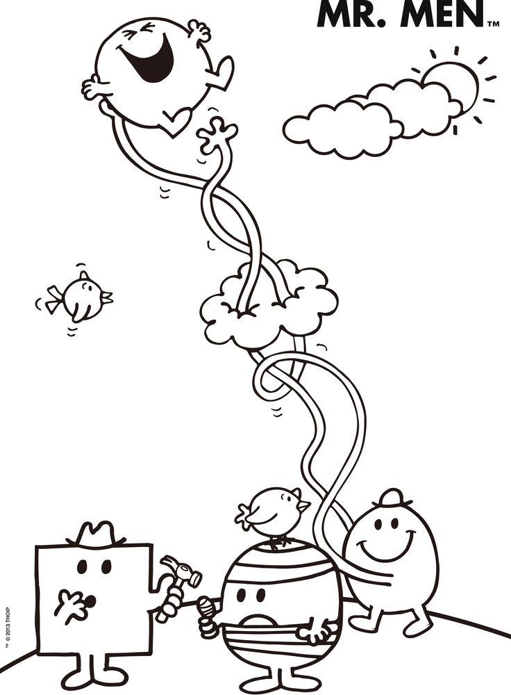 mr men books coloring pages - photo#9