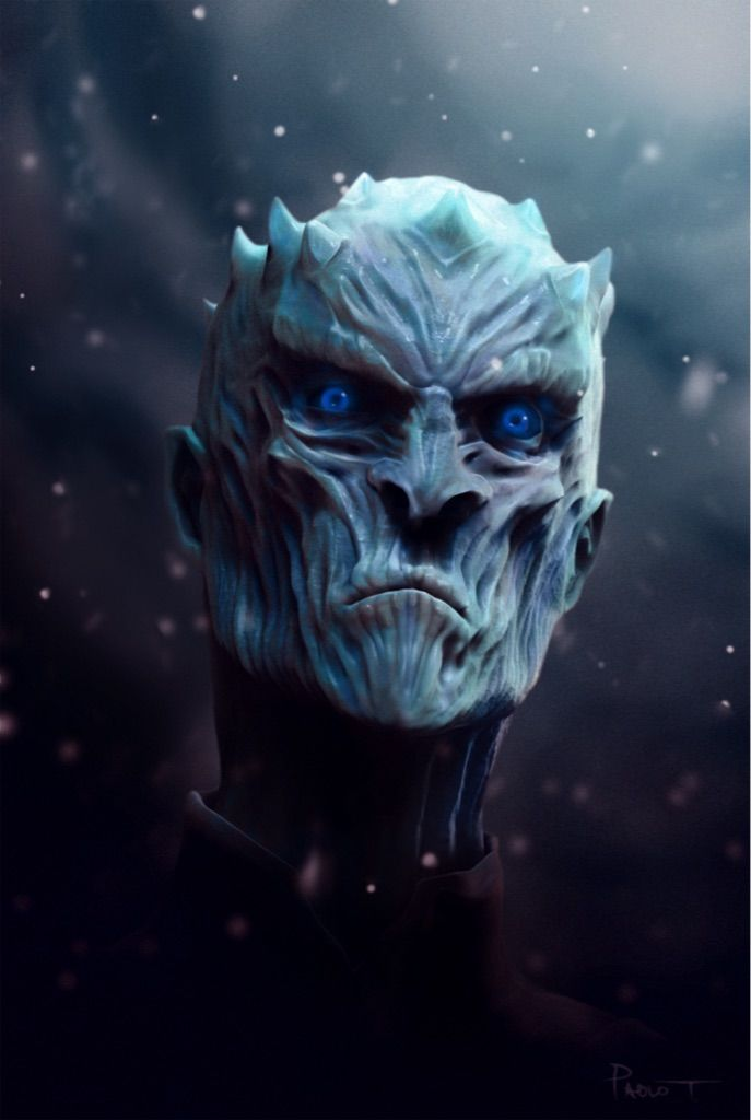 [All Spoilers] White walker king. Art by me (first post) - Imgur