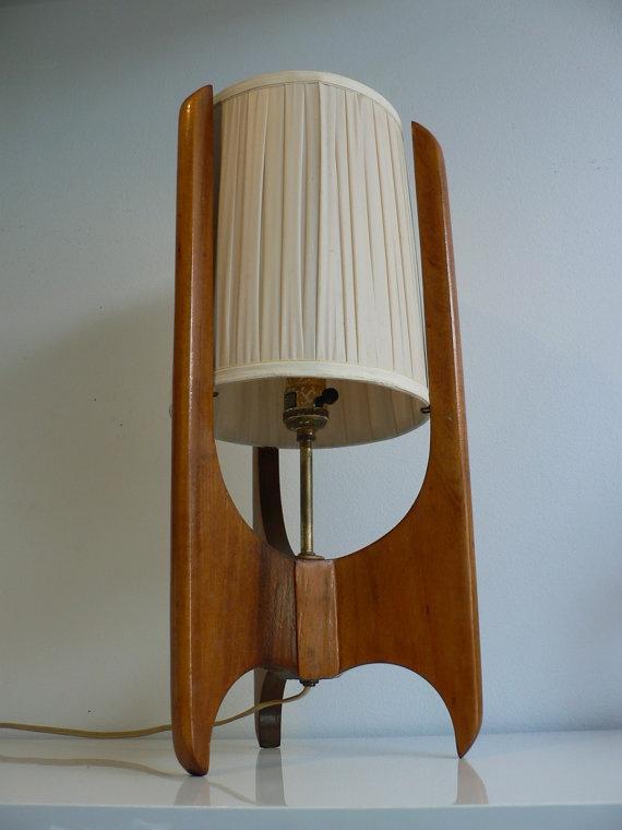 Vintage Wood Wall Lamp
