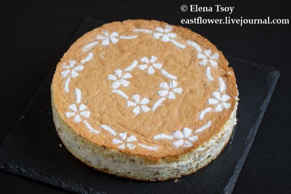 Торт с рикоттой и грушами - Елена