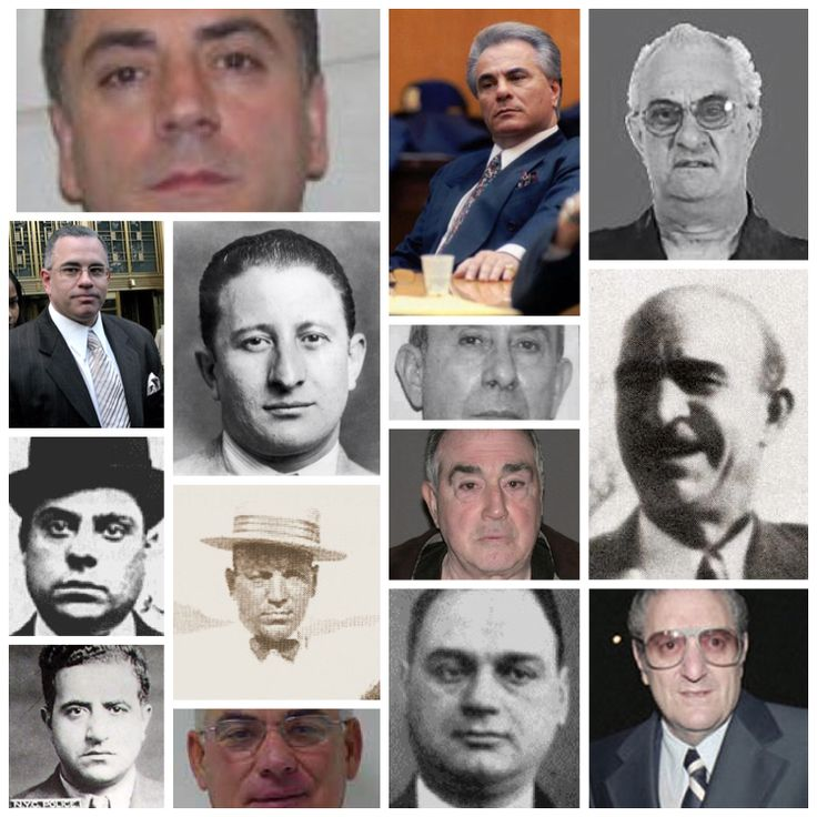 Gambino family historical leadership, bosses and acting bosses. Alfred Manfredi is missing cause i couldn't find his picture.   Ignazio Lupo Salvatore D'Aquila Al Manfredi (missing) Frank Scalice Vincent Mangano Albert Anastasia Carlo Gambino Paul Castellano John Gotti Junior Gotti Peter Gotti Arnold Squitieri Nicholas Corozzo Dom Cefalu'  Frank Cali