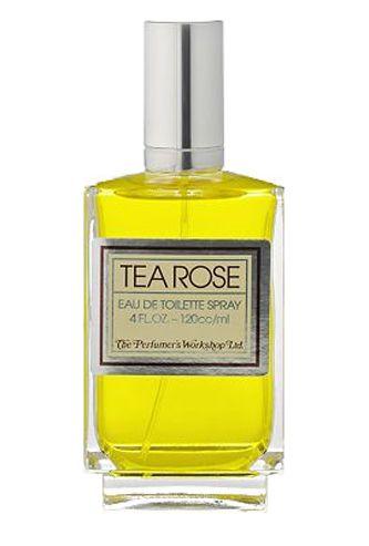 Tea Rose Perfumer`s Workshop. The fragrance features bergamot, rose, lily, tuberose, sandalwood, amber, cedar and brazilian rosewood.