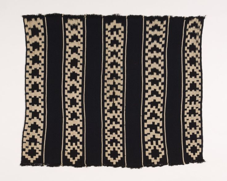 Mapuche Chief's Poncho,  Southern Chile,  Early 20th century,  Wool dyed with indigo,  Ikat technique.