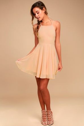 d205486472b Lovely Yellow Dress - Skater Dress - Fit-and-Flare Dress -  44.00