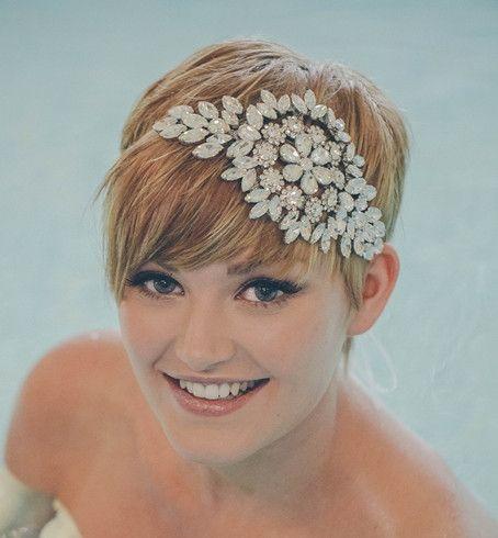 Hattie statement crystal bridal headband - Debbie Carlisle