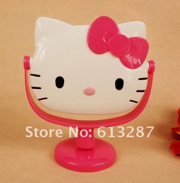 Kawaii rosa olá Kitty espelho rotativo, Tipo mesa de espelho, Presente de natal de varejo KCS em Espelhos de maquiagem de Beleza & saúde no AliExpress.com | Alibaba Group