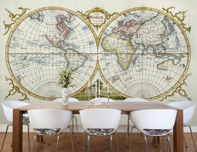 73 best maps images on pinterest world maps antique maps and maps these fantastic wallpaper maps from wallpapered are a stylish way to be anywhere in the world gumiabroncs Image collections