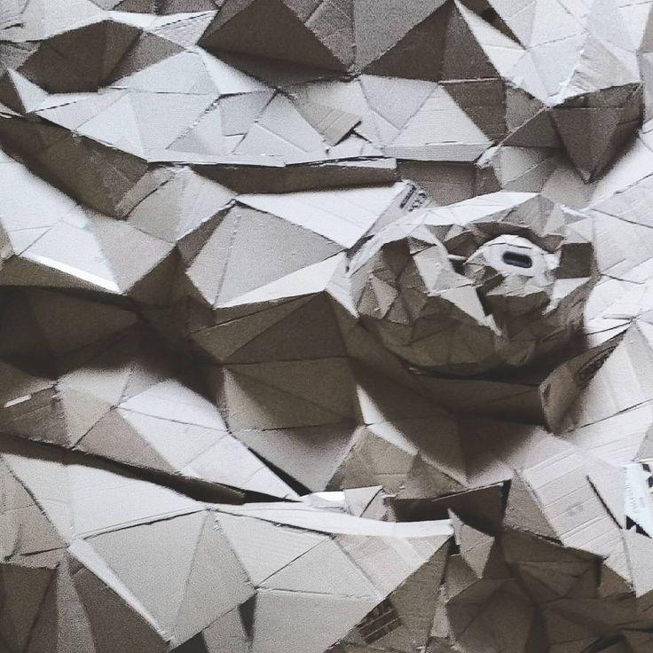 #MadridTexture #octopus #cardboard #engineers #design #industrialDesign #ID #EYE #AIDI#Madrid #Politecnica #textureporn #texture #geodesic #triangles