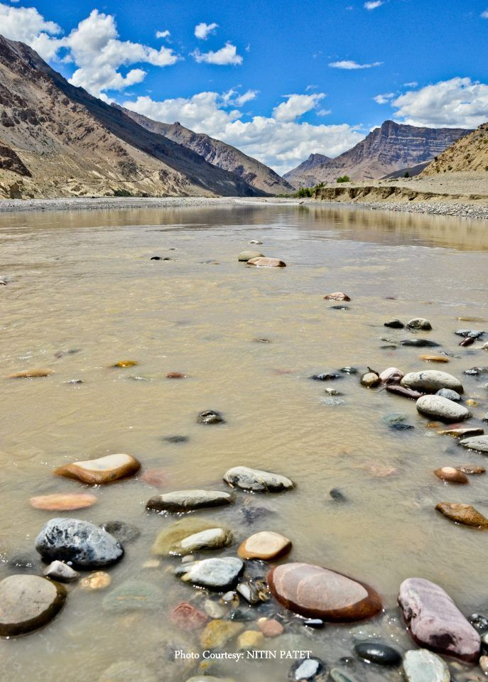 Streams in a mountain desert...Lahaul Spiti