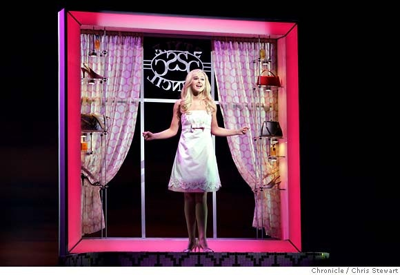 "Legally Blonde ... ""It's almost there, but this dress needs to seal the deal, make a grown man kneel"""